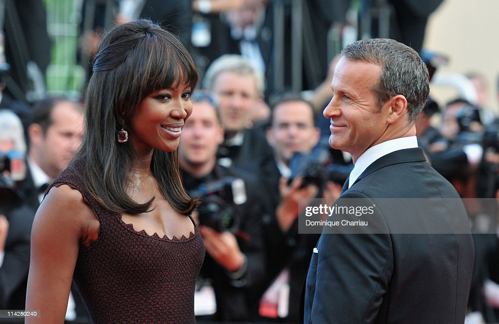 Naomi Campbell and Vladimir Doronin attend 'The Beaver' Premiere during the 64th Cannes Film Festival at the Palais des Festivals on May 17 2011 in...