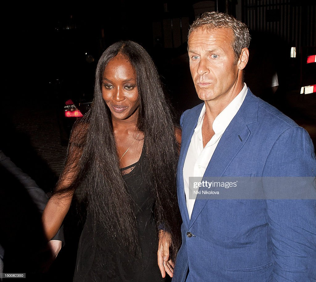 Naomi Campbell and Vladislav Doronin at Naomi Campbell's Olympic Celebration Dinner on August 9 2012 in London England