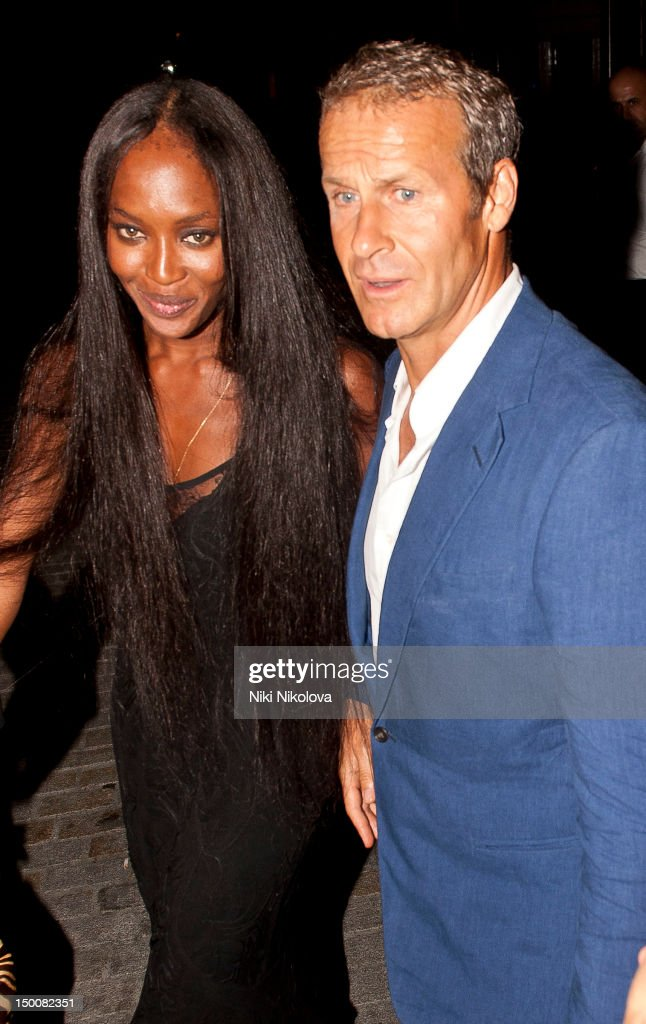 Naomi Campbell and Vladislav Doronin at Naomi Campbell's Olympic Celebration Dinner on August 9, 2012 in London, England.