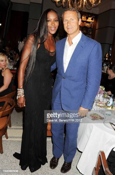 Naomi Campbell and Vladislav Doronin attend as Naomi Campbell hosts an Olympic Celebration Dinner in partnership with Fashion For Relief Interview...