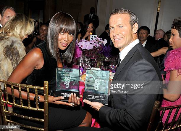 Naomi Campbell and Vladislav Doronin attend Gabrielle's Angel Foundation for Cancer Research Hosts Angel Ball 2011 at Cipriani Wall Street on October...