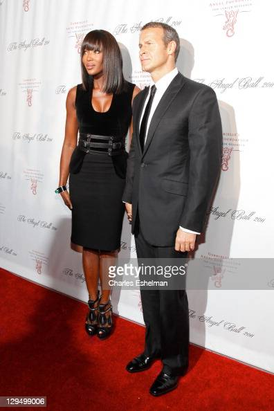 Naomi Campbell and Vladislav Doronin attend the 2011 Angel Ball To Benefit Gabrielle's Angel Foundation at Cipriani Wall Street on October 17 2011 in...