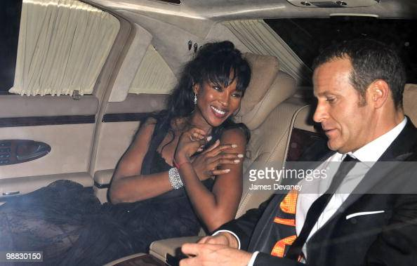 Naomi Campbell and Vladislav Doronin attend the Costume Institute Gala after party at the Mark hotel on May 3 2010 in New York City