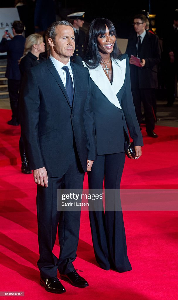 Naomi Campbell and Vladislav Doronin attend the Royal World Premiere of 'Skyfall' at the Royal Albert Hall on October 23 2012 in London England
