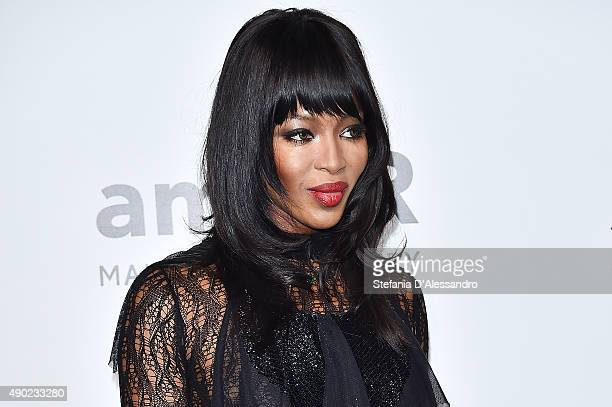 Naomi Campbell arrives at amfAR Milano 2015 at La Permanente on September 26 2015 in Milan Italy