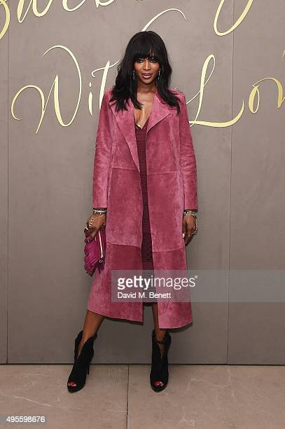 Naomi Campbell arrives at the Burberry Festive film premiere at 121 Regent Street on November 3 2015 in London England