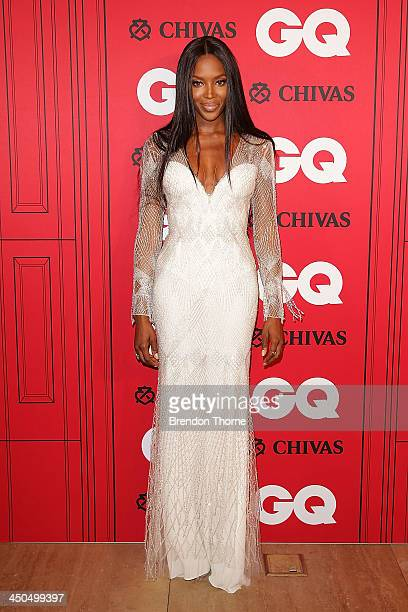 Naomi Campbell arrives at the GQ Men of the Year awards at the Ivy Ballroom on November 19 2013 in Sydney Australia