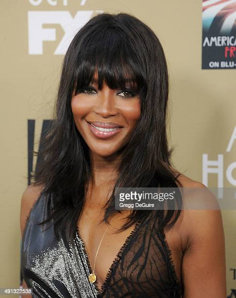 Naomi Campbell arrives at the premiere screening of FX's 'American Horror Story Hotel' at Regal Cinemas LA Live on October 3 2015 in Los Angeles...