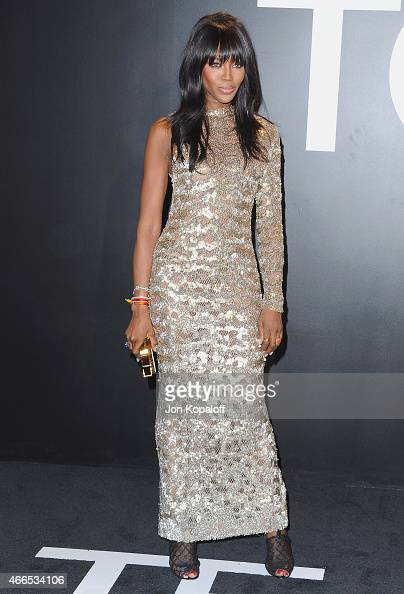 Naomi Campbell arrives at Tom Ford Autumn/Winter 2015 Womenswear Collection Presentation at Milk Studios on February 20 2015 in Los Angeles California