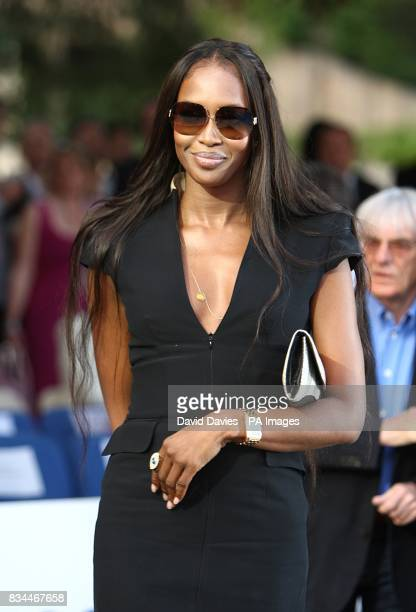 Naomi Campbell arrives for the Grand Prix and Fashion Unite at The Amber Lounge Le Meridien Beach Plaza Hotel Monaco