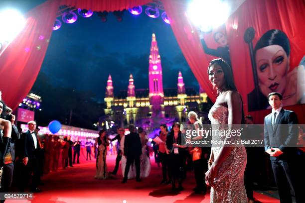 Naomi Campbell arrives for the Life Ball 2017 at City Hall on June 10 2017 in Vienna Austria