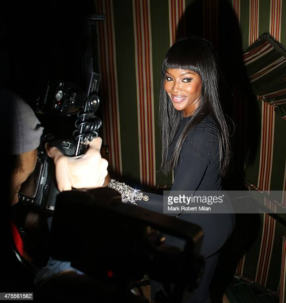 Naomi Campbell at Annabels night club on June 1 2015 in London England