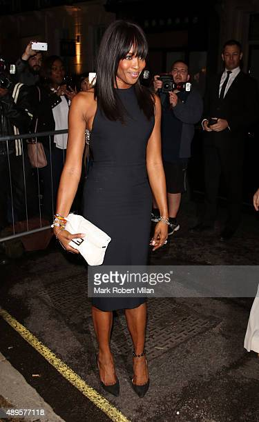 Naomi Campbell at the Victoria Beckham store on Dover Street on September 22 2015 in London England