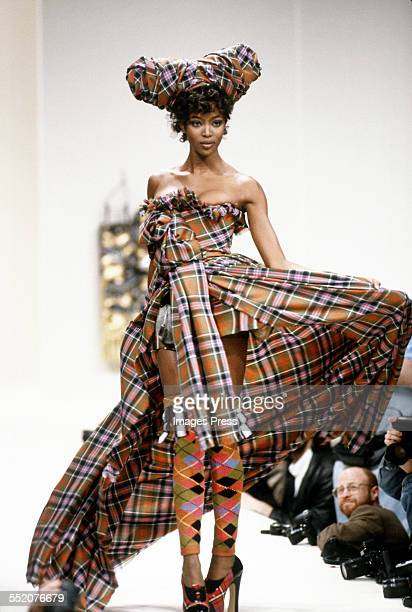 Naomi Campbell at the Vivienne Westwood Fall 1994 fashion show circa 1994 in Paris France