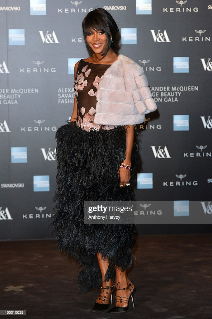 <a gi-track='captionPersonalityLinkClicked' href=/galleries/search?phrase=Naomi+Campbell&family=editorial&specificpeople=171722 ng-click='$event.stopPropagation()'>Naomi Campbell</a> attends a private view for the 'Alexander McQueen: Savage Beauty' exhibition at Victoria & Albert Museum on March 12, 2015 in London, England.
