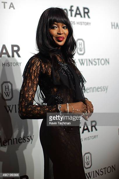 Naomi Campbell attends amfAR Milano 2015 at La Permanente on September 26 2015 in Milan Italy