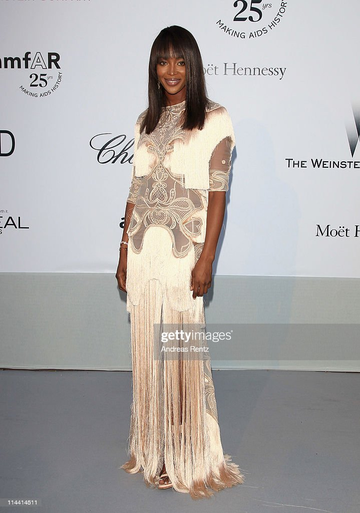 Naomi Campbell attends amfAR's Cinema Against AIDS Gala during the 64th Annual Cannes Film Festival at Hotel Du Cap on May 19, 2011 in Antibes, France.