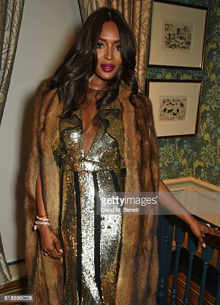 Naomi Campbell attends Edward Enninful's OBE dinner at Mark's Club on October 27 2016 in London England