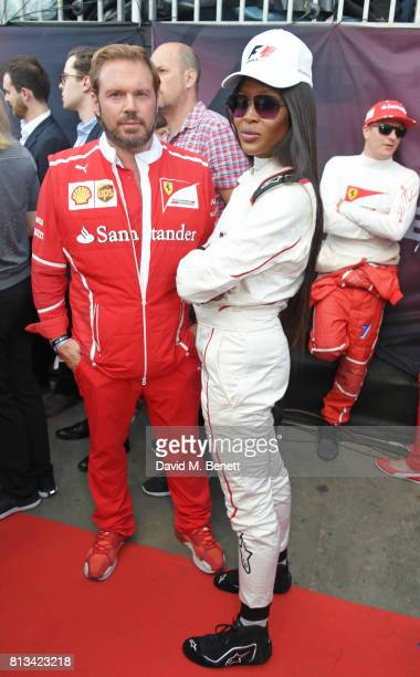 Naomi Campbell attends F1 Live London at Trafalgar Square on July 12 2017 in London England F1 Live London the first time in Formula 1 history that...