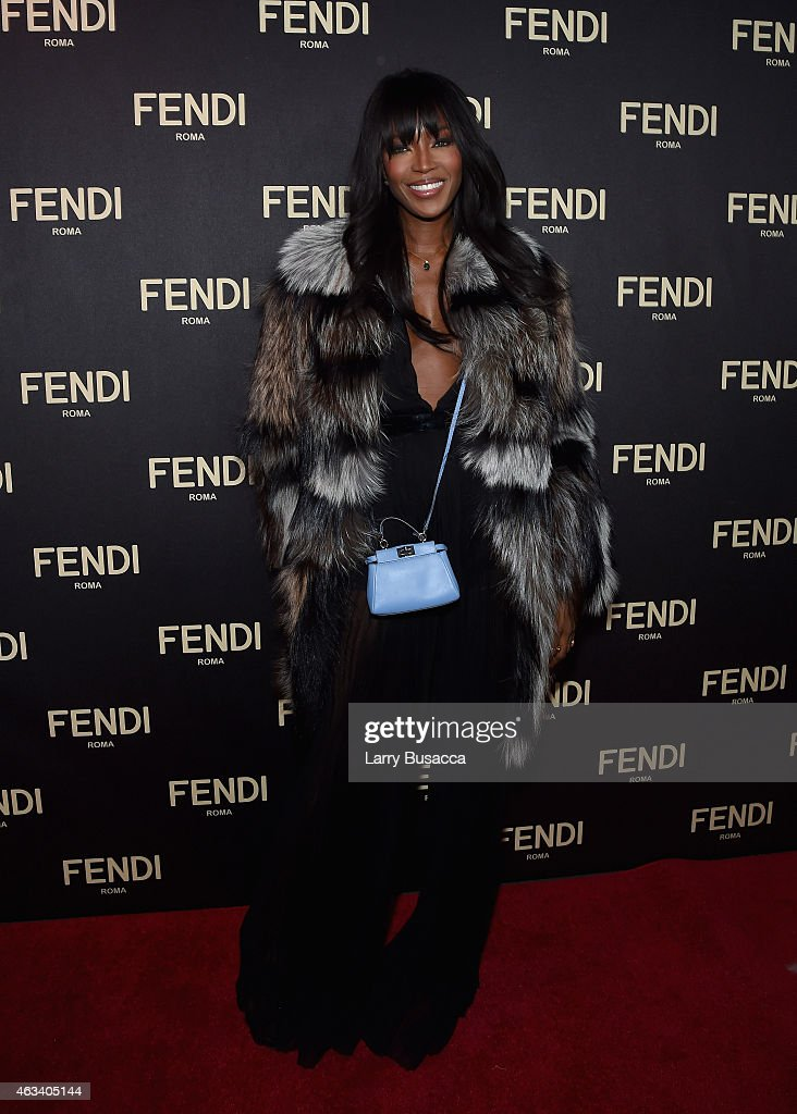 Naomi Campbell attends FENDI celebrates the opening of the New York flagship store on February 13 2015 in New York City