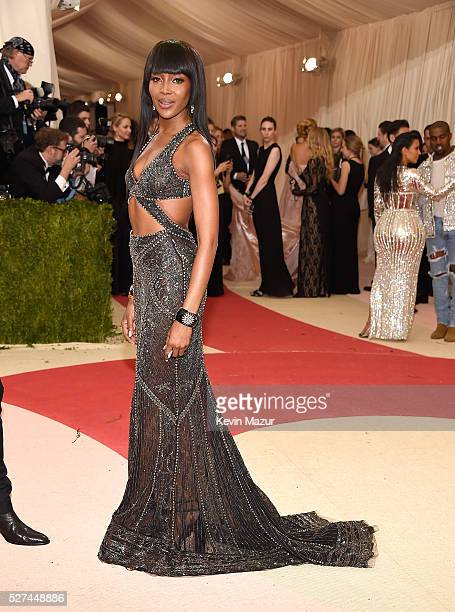 Naomi Campbell attends 'Manus x Machina Fashion In An Age Of Technology' Costume Institute Gala at Metropolitan Museum of Art on May 2 2016 in New...