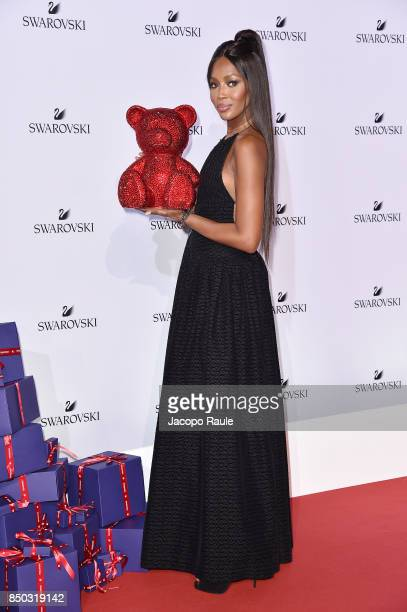 Naomi Campbell attends Swarovski Crystal Wonderland Party on September 20 2017 in Milan Italy