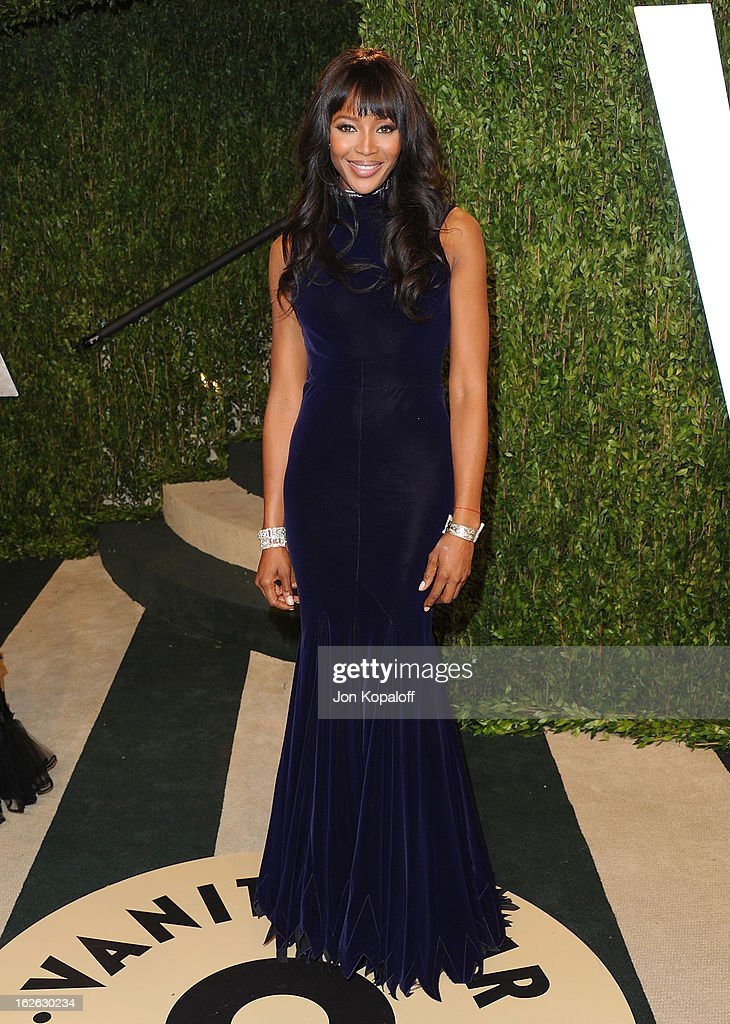 Naomi Campbell attends the 2013 Vanity Fair Oscar party at Sunset Tower on February 24, 2013 in West Hollywood, California.