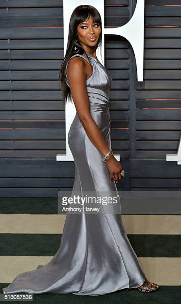 Naomi Campbell attends the 2016 Vanity Fair Oscar Party hosted By Graydon Carter at Wallis Annenberg Center for the Performing Arts on February 28...