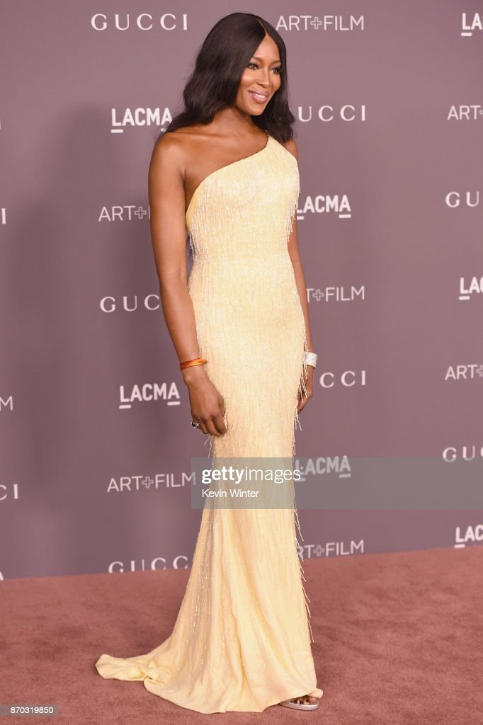 Naomi Campbell attends the 2017 LACMA Art + Film Gala Honoring Mark Bradford And George Lucas at LACMA on November 4, 2017 in Los Angeles, California.