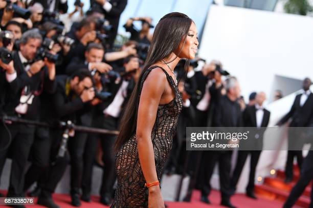 Naomi Campbell attends the 70th Anniversary of the 70th annual Cannes Film Festival at Palais des Festivals on May 23 2017 in Cannes France