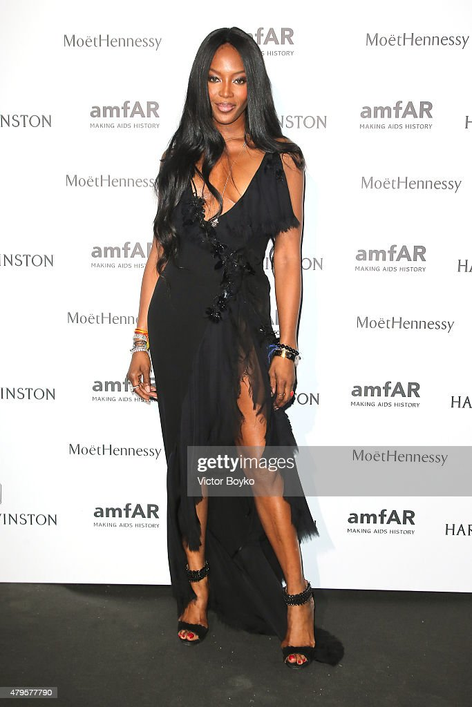 <a gi-track='captionPersonalityLinkClicked' href=/galleries/search?phrase=Naomi+Campbell&family=editorial&specificpeople=171722 ng-click='$event.stopPropagation()'>Naomi Campbell</a> attends the amfAR dinner at the Pavillon LeDoyen during the Paris Fashion Week Haute Couture on July 5, 2015 in Paris, France.