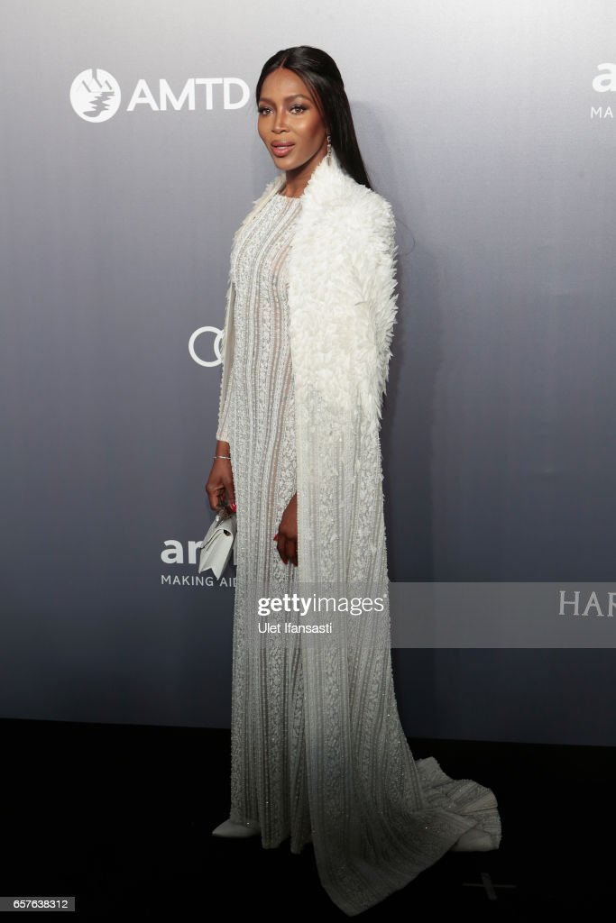 Naomi Campbell attends the amfAR Hong Kong Gala at Shaw Studios on March 25, 2017 in Hong Kong, Hong Kong.