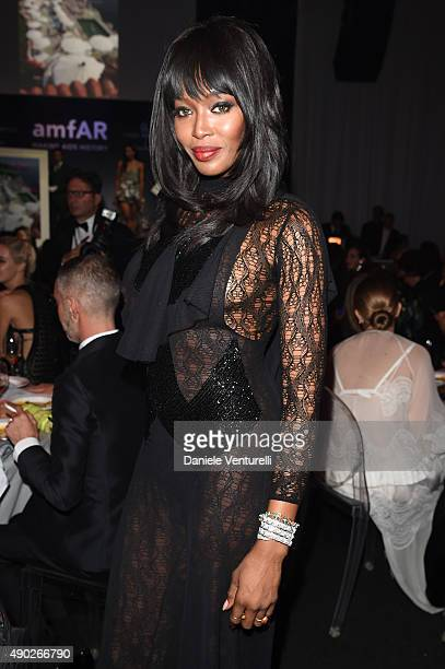 Naomi Campbell attends the amfAR Milano 2015 after party at La Permanente on September 26 2015 in Milan Italy