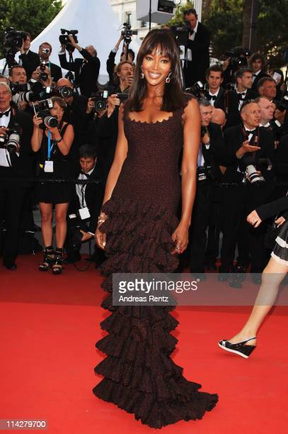 Naomi Campbell attends 'The Beaver' premiere at the Palais des Festivals during the 64th Cannes Film Festival on May 17 2011 in Cannes France