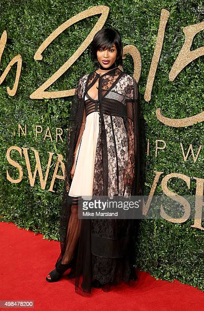 Naomi Campbell attends the British Fashion Awards 2015 at London Coliseum on November 23 2015 in London England