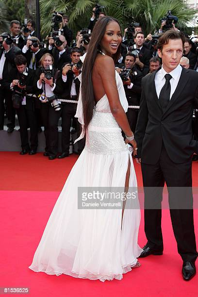 Naomi Campbell attends the 'Che' premiere at the Palais des Festivals during the 61st International Cannes Film Festival on May 21 2008 in Cannes...