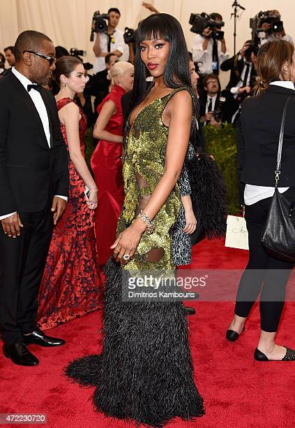 Naomi Campbell attends the 'China Through The Looking Glass' Costume Institute Benefit Gala at the Metropolitan Museum of Art on May 4 2015 in New...