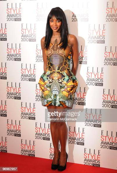 Naomi Campbell attends the ELLE Style Awards at Grand Connaught Rooms on February 22 2010 in London England