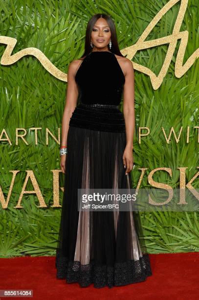 Naomi Campbell attends The Fashion Awards 2017 in partnership with Swarovski at Royal Albert Hall on December 4 2017 in London England