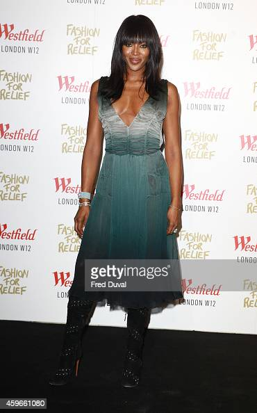 Naomi Campbell attends the Fashion For Relief pop up store at Westfield London on November 27 2014 in London England