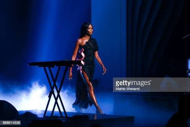 Naomi Campbell attends the Germany's Next Topmodel Final at KoenigPilsenerARENA on May 25 2017 in Oberhausen Germany