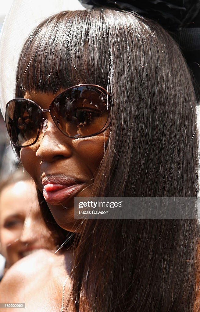 Naomi Campbell attends the Lexus Design Pavilion on Victoria Derby Day at Flemington Racecourse on November 2, 2013 in Melbourne, Australia.