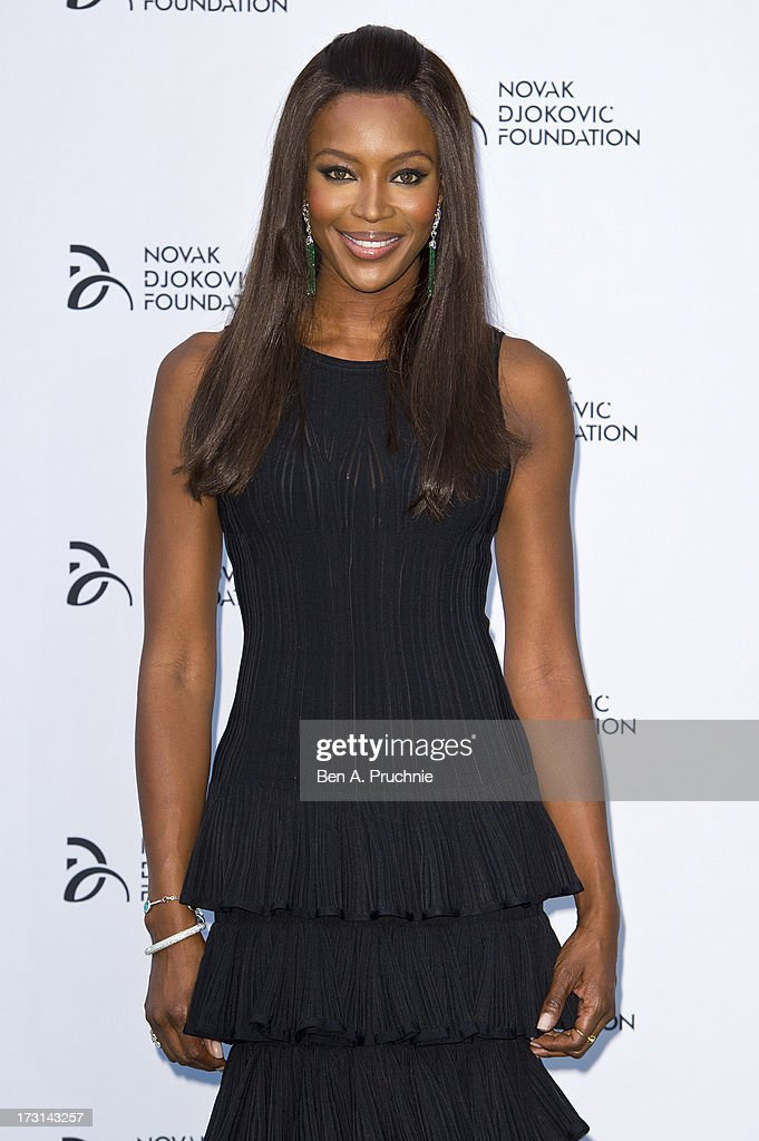 Naomi Campbell attends the Novak Djokovic Foundation London gala dinner at The Roundhouse on July 8, 2013 in London, England.