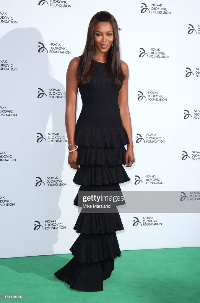 <a gi-track='captionPersonalityLinkClicked' href=/galleries/search?phrase=Naomi+Campbell&family=editorial&specificpeople=171722 ng-click='$event.stopPropagation()'>Naomi Campbell</a> attends the Novak Djokovic Foundation London gala dinner at The Roundhouse on July 8, 2013 in London, England.