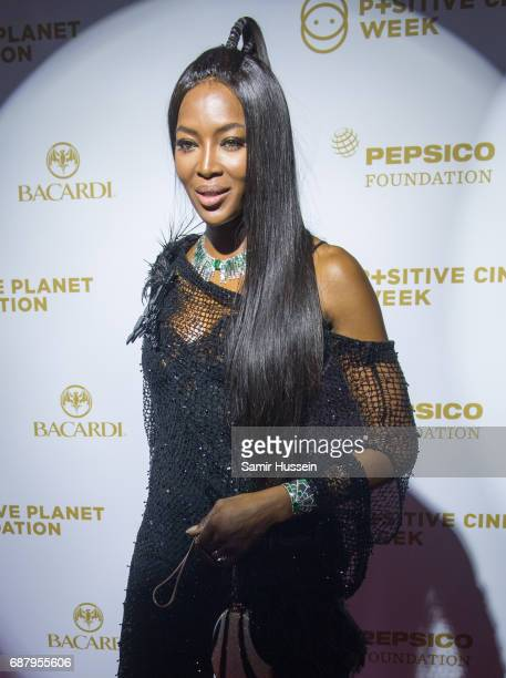 Naomi Campbell attends the Positif Planet gala dinner during the 70th annual Cannes Film Festival at Palm Beach on May 24 2017 in Cannes France