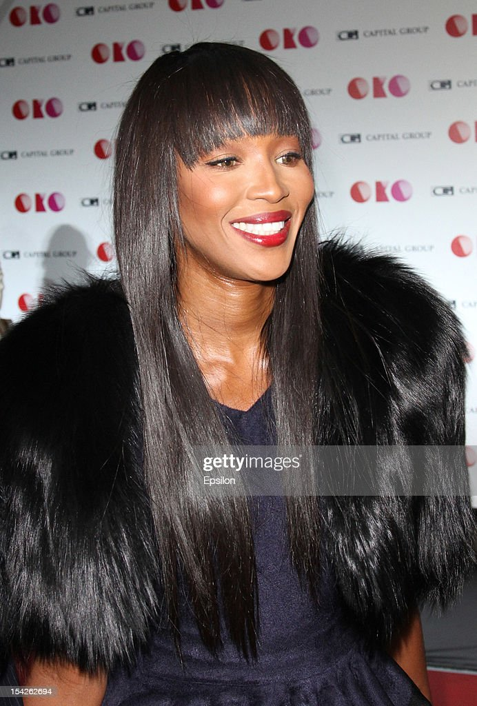 Naomi Campbell attends the presentation of the new Capital Group skyscraper development project 'OKO' in the 'Moscow City' MMDT on October 16, 2012 in Moscow, Russia. The project consists of a 85-storey residential skyscraper and 49-storeyed office tower
