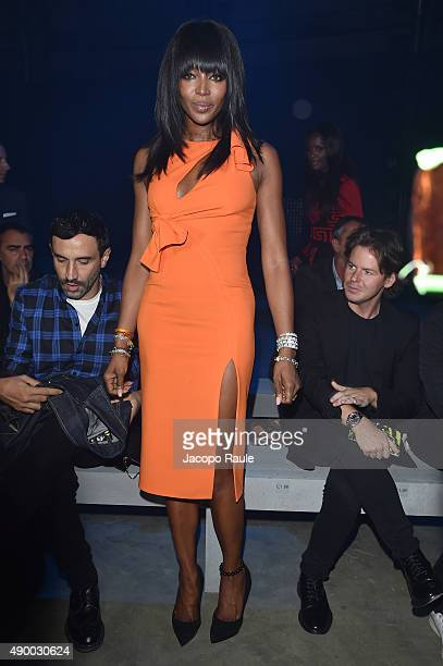 Naomi Campbell attends the Versace show during the Milan Fashion Week Spring/Summer 2016 on September 25 2015 in Milan Italy