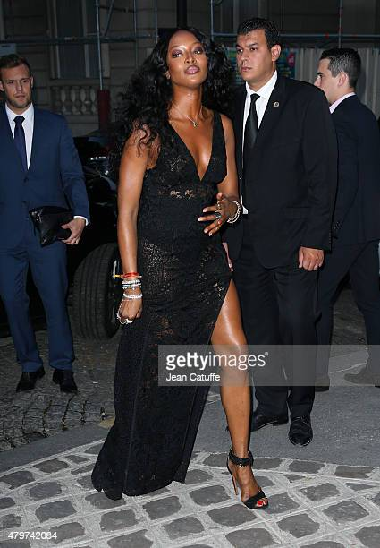 Naomi Campbell attends the 'Vogue Paris Foundation' gala held at the Palais Galliera during Paris Fashion Week Haute Couture Fall/Winter 15/16 on...