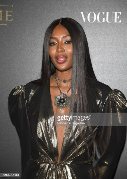 Naomi Campbell attends the Vogue Party as part of the Paris Fashion Week Womenswear Spring/Summer 2018 at Le Petit Palais on October 1 2017 in Paris...