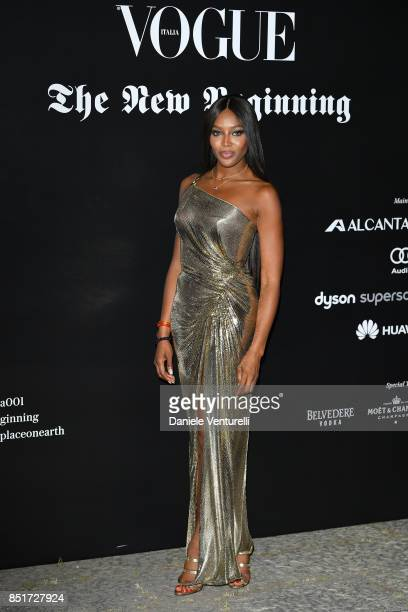 Naomi Campbell attends theVogue Italia 'The New Beginning' Party during Milan Fashion Week Spring/Summer 2018 on September 22 2017 in Milan Italy